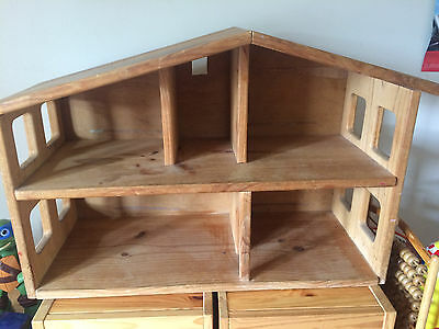 Wooden Doll House Excellent Condition Solid