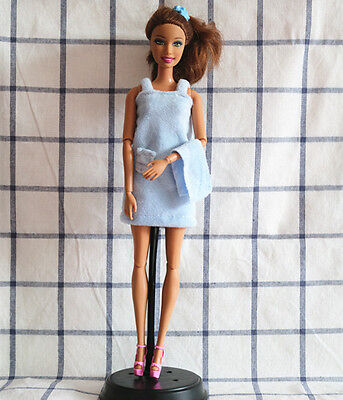 Doll Accessories doll Clothes blue pajamas with towel dress for Barbie doll