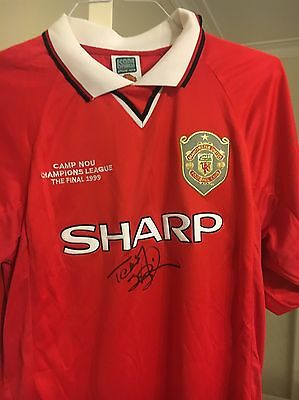 Teddy Sheringham Signed Manchester United Shirt 1999 Champions League