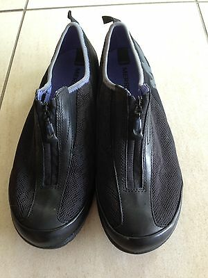 MERRILL Black Air Mesh Zip Up Sneaker Style Casual Shoes -size 8 US  NWOT