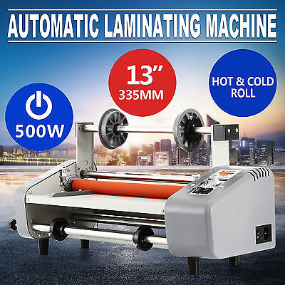 "13"" Roll Laminator Max Thickness 5 Mm Four Rollers Hot Cold Laminating Machine"