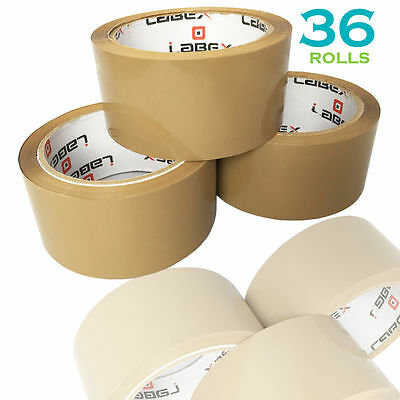 "36 Rolls Labex High Quality 2"" Brown Packing Parcel Tape 48mmx66m CHEAP BARGAIN"