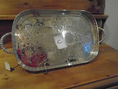 Vintage Viners Of Sheffield Alpha Plate Gallery Tray For A Teaset/teapot/downton