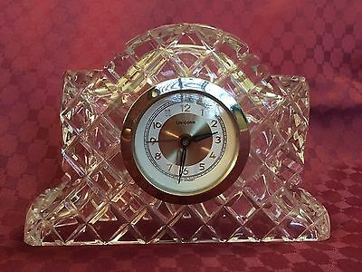 Stunning Vintage Unicorn Crystal Clock In Working Order Made In Germany Vgc