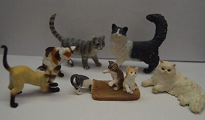 Lot 9 figurines chats (SCHLEICH+BULLYLAND)