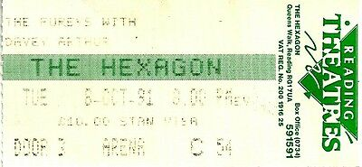 The Fureys with Davey Arthur Concert Ticket, 6th Oct 1991, The Hexagon Reading