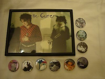 The Cure Lot 9 x  Badges + Framed Photo #2