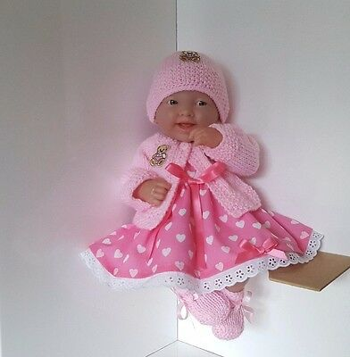 "Handmade Baby Dolls Clothes for 14"" BERENGUER /CUPCAKE LA NEWBORN /REBORN th"