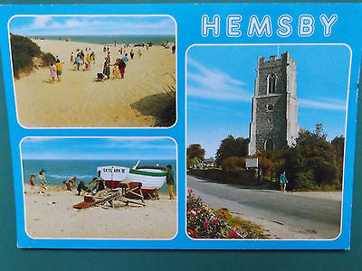 Vintage Hemsby Norfolk Old Used Postcard Collectors  1991
