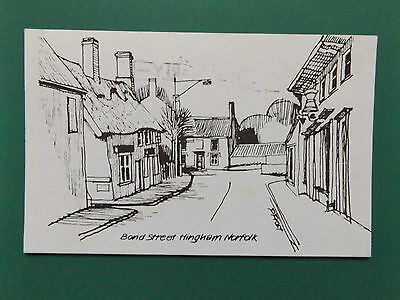 Vintage Hingham Norfolk Old Used Postcard Collectors  1978