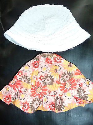 Lovely crochet floral summer hats 6-12 months excellent condition!
