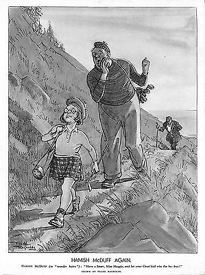 Hamish McDuff.Maggie.Grandad.Sketch.Frank Reynolds.Scottish.Golf.Sport.1936.Old