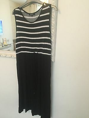 New Look Maternity Dress Black & White Stripe Size 12