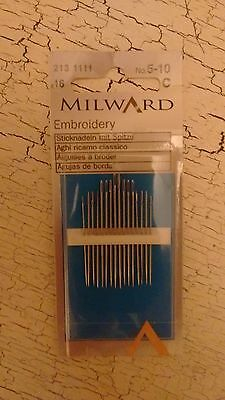 16 x Milward Embroidery needles