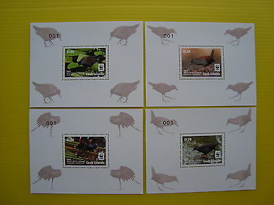 Wwf Cook Island 2014, Spotless Crake, 4 Deluxe Sheets, Perforated, Mnh