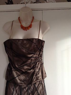 Coast Bustier Corset Top And Skirt Outfit Bronze Size 10