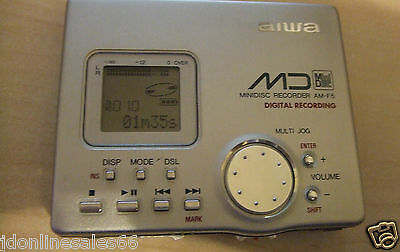 AIWA AM-F5 PERSONAL MINIDISC WALKMAN PLAYER / RECORDER VGC NO Accessories
