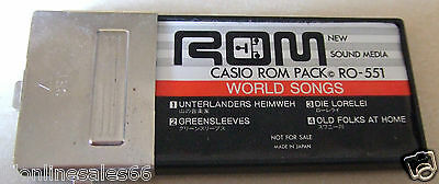 """Casio Keyboard ROM Pack RO-551 """"WORLD SONGS"""" For PT MT CT"""