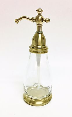 New Brass,Antique Gold Pump+Glass Vintage Style Bathroom,Kitchen Soap Dispenser