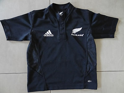 Boys Adidas New Zealand All Blacks Rugby Jersey - Size 8, Excellent Condition