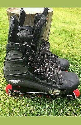 Mission 3500 Quarto hockey inline skates.Size UK 3. Not bauer