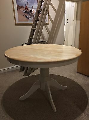 Large Round Country Dining Table