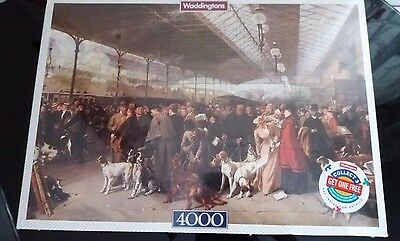 """RARE VINTAGE SEALED 4000 PIECE WADDINGTONS PUZZLE """"Coming South, Perth Station"""""""