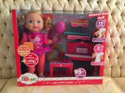 Little Mommy Let's Make Music Interactive Doll  NEW IN BOX