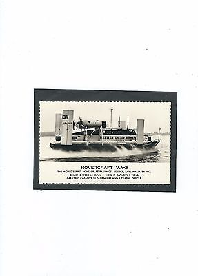 Hovercraft   V.a.3 Worlds First Passenger Service 1962 Real Photo Postcard