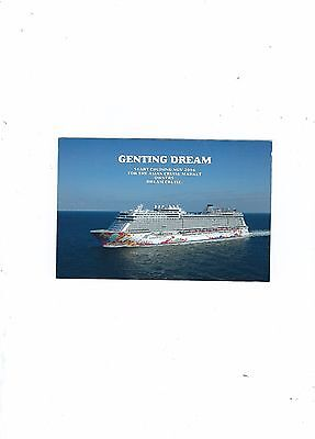 New Cruise Line For The Asian Market  Dream Cruise Ship Genting Dream Postcard