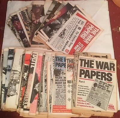 """War papers - Vintage Newspaper Reprint """"The War Papers"""" editions No's 1 to 79"""
