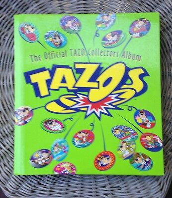 Tazos Official Collectors Album, 171 discs, 16 Plastic Sleeves, 6 Backing Pages