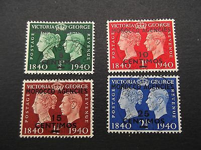 Morocco Agencies - George VI 1940 Centenary Set Spanish Currency Used