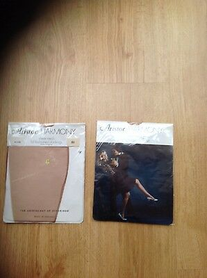 Two Pair of Vintage ARISTOC HARMONY Fully Fashioned stockings M 8.5