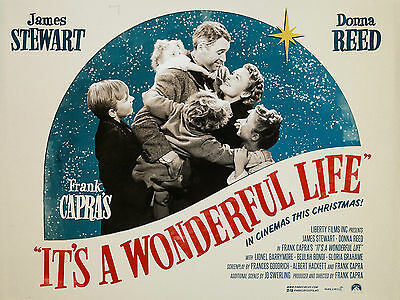 "Its a Wonderful Life 1946 16"" x 12"" Reproduction Movie Poster Photograph"
