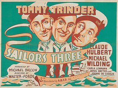 "Sailors Three 16"" x 12"" Reproduction Movie Poster Photograph"