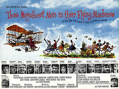 "Those Magnificent Men Flying Machines 1965 16""x12"" Repro Movie Poster Photograph"