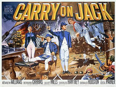 "Carry on Jack 1963 16"" x 12"" Reproduction Movie Poster Photograph"