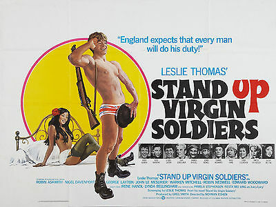 "Stand up Virgin Soldiers 1977 16"" x 12"" Reproduction Movie Poster Photograph"