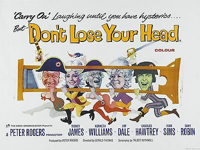 "Carry on Dont Lose Your Head 1966 16"" x 12"" Reproduction Movie Poster Photograph"