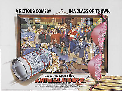 "Animal House 1978 16"" x 12"" Reproduction Movie Poster Photograph"
