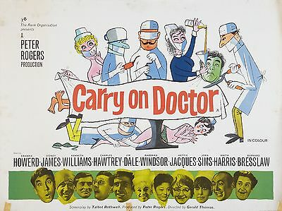 "Carry on Doctor 1967 16"" x 12"" Reproduction Movie Poster Photograph"