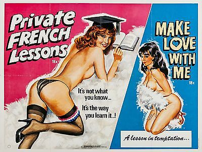 "Private French Lessons 16"" x 12"" Reproduction Movie Poster Photograph"