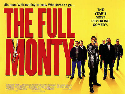 "The Full Monty 1997 16"" x 12"" Reproduction Movie Poster Photograph"