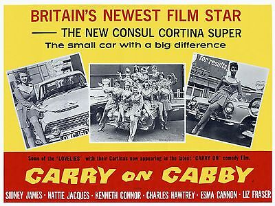 "Carry on Cabby 1963 16"" x 12"" Reproduction Movie Poster Photograph"