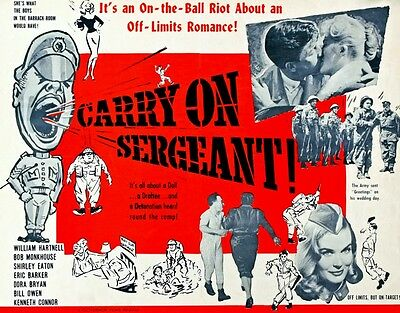 "Carry on Sargeant 1958 16"" x 12"" Reproduction Movie Poster Photograph"