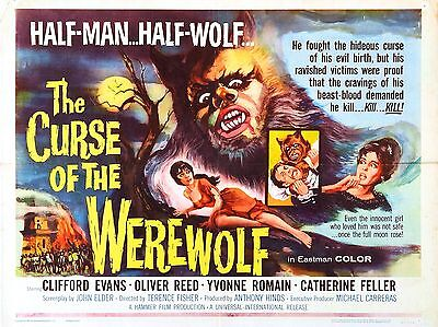 """Curse of the Werewolf 16"""" x 12"""" Reproduction Movie Poster Photograph"""