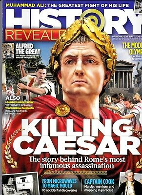 History Revealed magazine, backnumbr issue 32 August 2016. Caesar + Free Horrb H