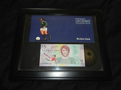 Limited Edition George Best  Legal Tender £5 Pound Note Presentation Fiver
