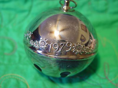 Wallace Silver Plated Sleigh Bell 1979 Bustling Christmas Village 9th  Edition